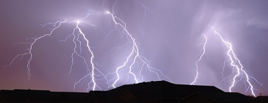 Storms bring 1,200 lightning flashes in an hour