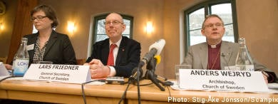 Church of Sweden approves gay marriage law