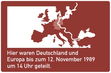 Road signs to mark Iron Curtain path in Germany