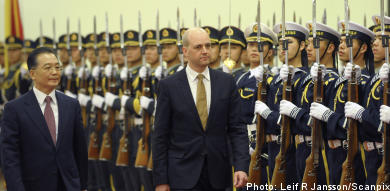 China, Reinfeldt, and the Olympics: a real mouthful