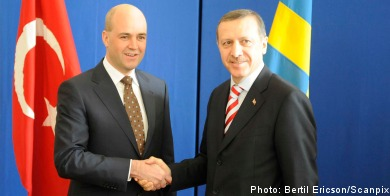 Reinfeldt offers suppport to Turkish counterpart