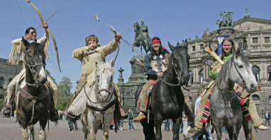 Cowboys and Indians camp out across Germany