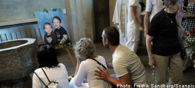 Memorial service for murdered toddlers