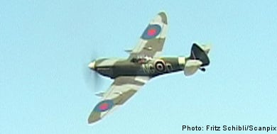 Spitfire takes flight in southern Sweden