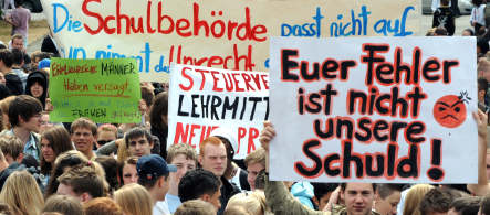 Berlin students protest repeat exam after cheating scandal