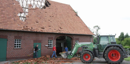 Heavy storms damage property in Germany