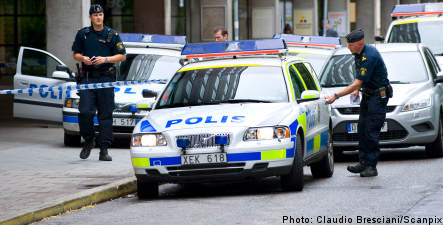Daylight robbery in central Stockholm
