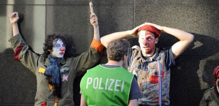 Protestors released after German army induction ceremony scuffle