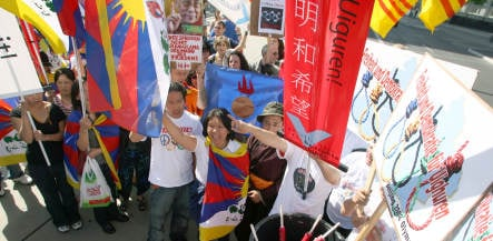 Chinese embassy in Berlin hit by protests