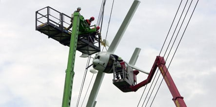 Couple rescued from plane stuck in Bavarian power lines
