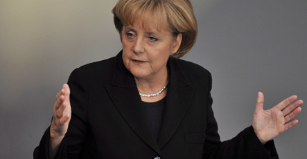 Merkel: Germany 'strong' enough to cope with financial crisis