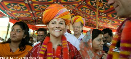 Sweden's Crown Princess booed on Indian airliner