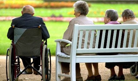 German population aging rapidly