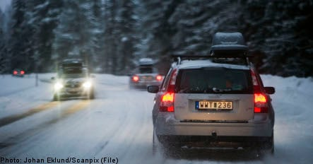 Warning for icy roads across Sweden
