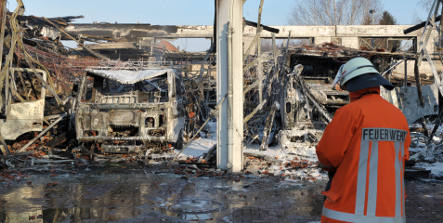 Town loses fire engines in blaze – again