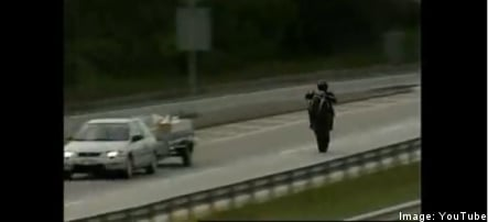 New video reveals clues about motorcycle 'Ghostrider'