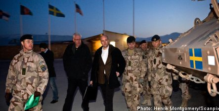 Reinfeldt in unexpected visit to Afghanistan