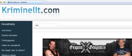 Sex offender website reported to police