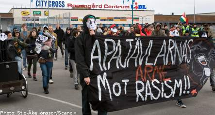 Demo against police racism in Malmö