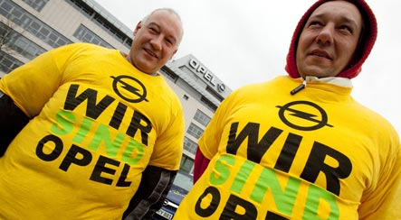 Opel convoy protests against carmaker's possible demise