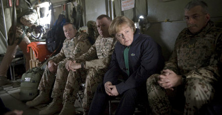 Bad weather spurs Merkel home from Afghanistan early