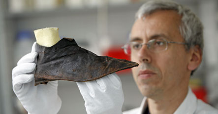 Archaeologists unearth 800-year-old shoe
