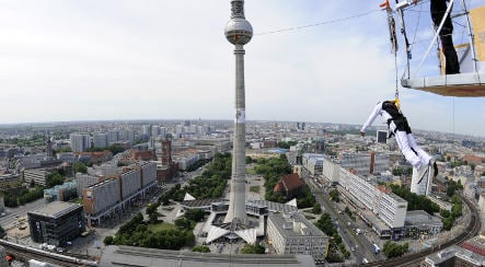 Free falling from Berlin's highest building