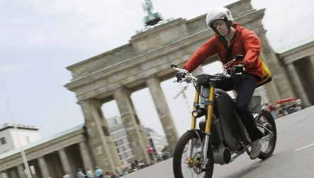 Berlin motorcycle inventor puts the human in hybrids