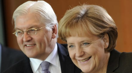 Steinmeier says coalition cramping election campaign