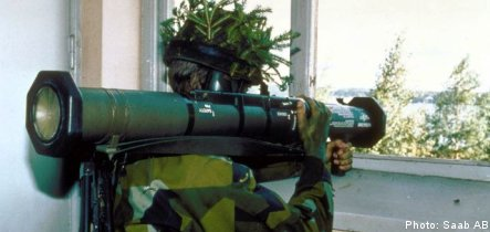 FARC guerillas armed with Swedish weapons