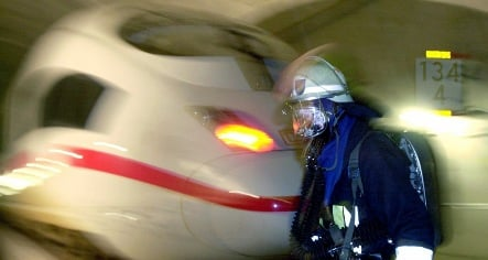 High-speed train catches fire in Hannover station