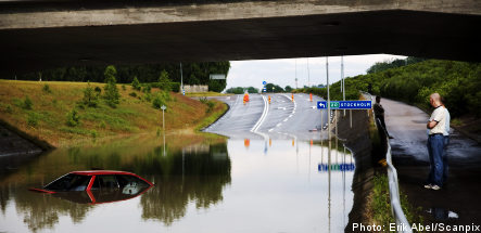 Sweden hit by wet and wild weather