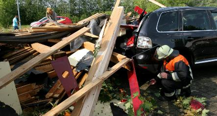 Storms wallop Germany and injure three
