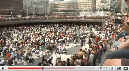 Swedes join public King of Pop dance tribute