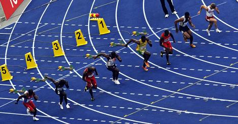 Bolt, Gay cruise at Berlin track competition