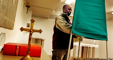 Swedes set to ignore church elections