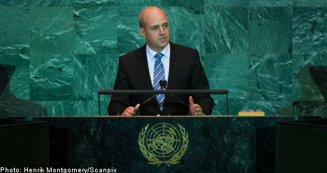 Reinfeldt: pace of climate talks 'too slow'