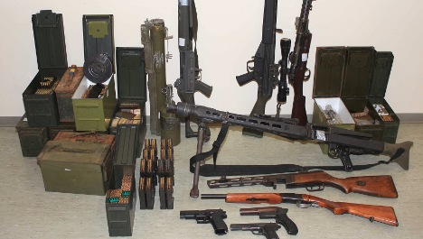 Three trucks full of weaponry removed from bomber's home