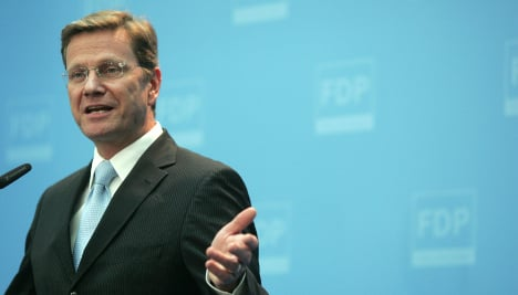 Future foreign minister Westerwelle refuses to answer English question