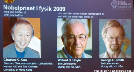 Fibre optic pioneers to share Nobel physics prize