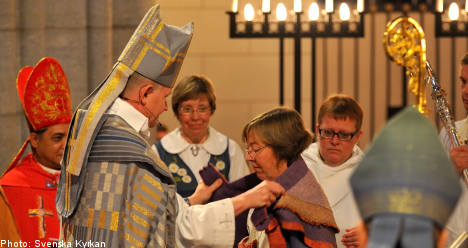Sweden's first lesbian bishop consecrated in Uppsala