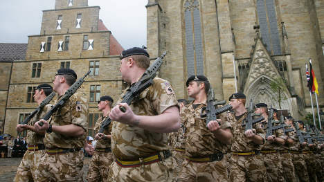 British troops to leave Germany under Tories