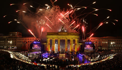 Germany celebrates the fall of the Berlin Wall