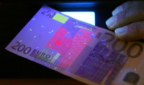 Counterfeiting of euro banknotes surges