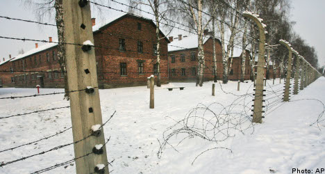 Swede charged over Auschwitz sign theft