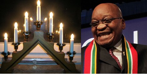 Christmas shopping stop for Jacob Zuma in Swedish grocery store