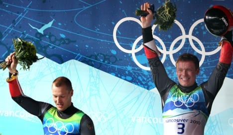 Germany takes gold and silver in men's luge