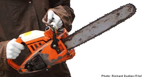 Chainsaw massacre averted in southern Sweden