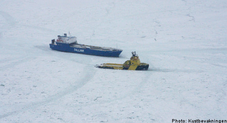 Ships freed from Baltic Sea ice