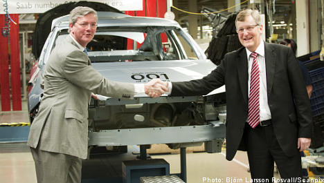 Saab production lines roll again